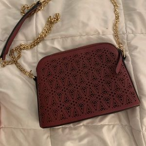 Formal crossbody purse with gold chain